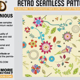 Retro Seamless Pattern - vector #222513 gratis