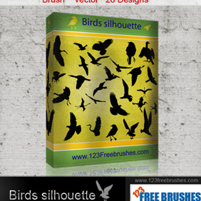 Birds Silhouette - Free vector #222613
