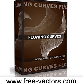 Flowing Curves Vector - vector gratuit #222733