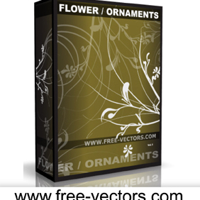 Flower Ornaments - vector gratuit #222763