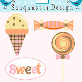 Yummy Sweets - vector gratuit #222773