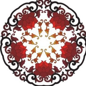 Chinese Ornament - vector gratuit #222883