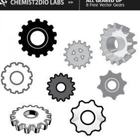 Free Vector Gears All Geared Up - Free vector #223093