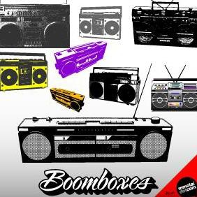 Boomboxes - Free vector #223143