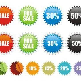 Sale Stickers - vector #223153 gratis