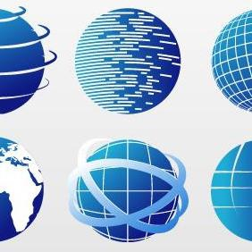 Globe Icon Set - vector gratuit #223203