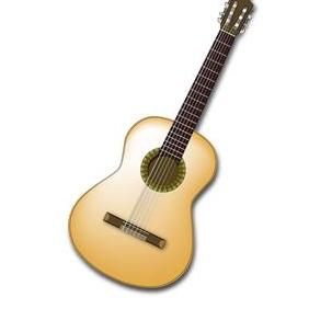 Spanish Guitar Vector - Free vector #223213