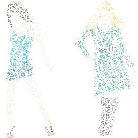 Free Dotty Women Vector Graphics - Free vector #223233