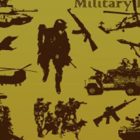 Military Pack - vector gratuit #223263
