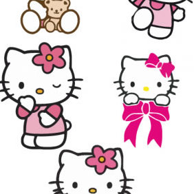 Hello Kitty - Free vector #223473