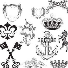 Heraldic Elements - vector #223653 gratis