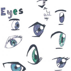 Eyes - vector #223693 gratis