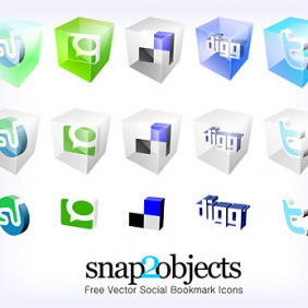 Social Bookmark Icons - vector gratuit #223793