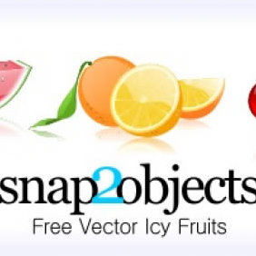 3 Free Vector Icy Fruits - бесплатный vector #223823