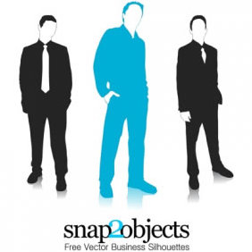 3 Free Vector Business Silhouettes - vector #224023 gratis