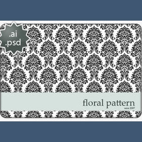 Floral Vector Pattern In Ai By - vector gratuit #224043