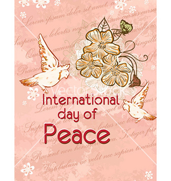 Free international day of peace with flowers vector - Kostenloses vector #224503