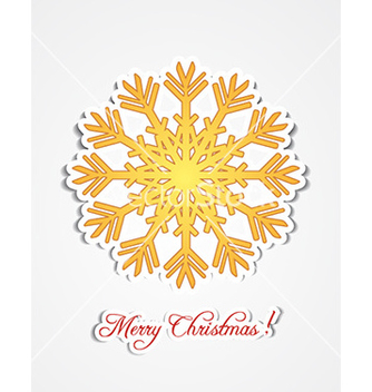 Free christmas with snow flake vector - vector gratuit #224583