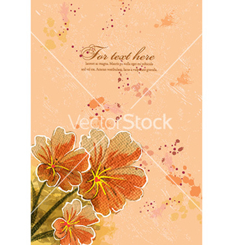 Free background with floral vector - Kostenloses vector #224603