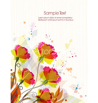 Free colorful floral background vector - vector #224803 gratis