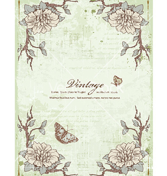 Free vintage frame with floral vector - Kostenloses vector #224813