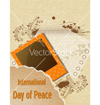 Free international day of peace with torn paper vector - бесплатный vector #225063