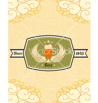 Free oktoberfest celebration with label vector - vector gratuit #225103
