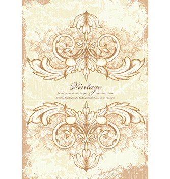 Free vintage frame with floral vector - vector gratuit #225143