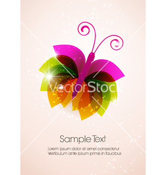 Free abstract butterfly vector - Kostenloses vector #225233