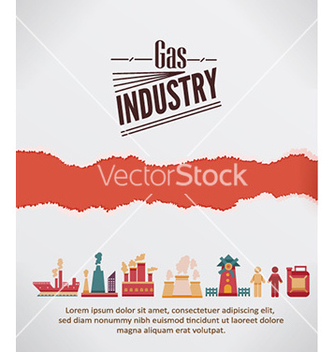 Free with industrial elements with torn paper vector - vector #225533 gratis