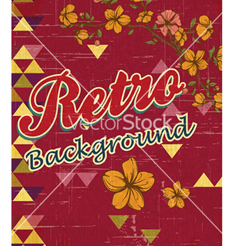 Free retro floral background vector - vector gratuit #225773