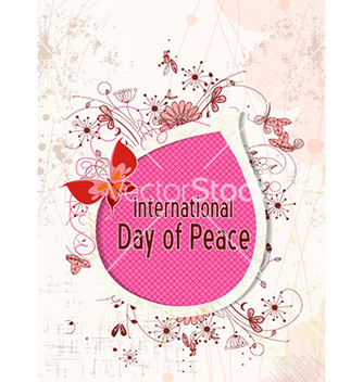 Free international day of peace with doodle frame vector - бесплатный vector #225823