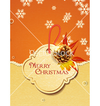 Free christmas with sticker vector - vector gratuit #225863