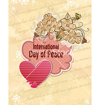 Free international day of peace with doodle frame vector - бесплатный vector #226103