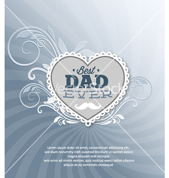 Free fathers day vector - Free vector #226193