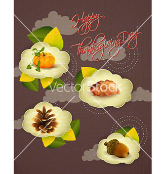 Free happy thanksgiving day with clouds vector - Free vector #226243