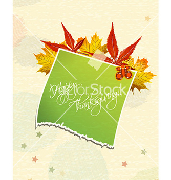 Free happy thanksgiving day with sticker vector - Free vector #226713