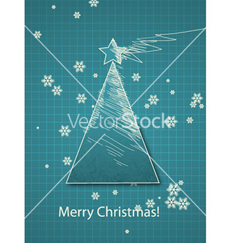 Free christmas with tree vector - vector gratuit #226793