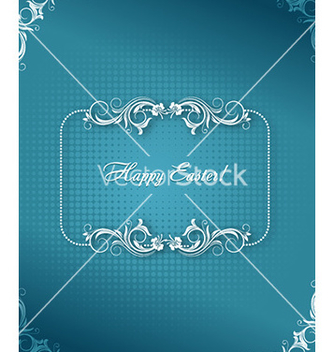 Free easter with floral frame vector - Kostenloses vector #226943