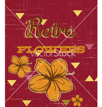Free retro floral background vector - бесплатный vector #226993