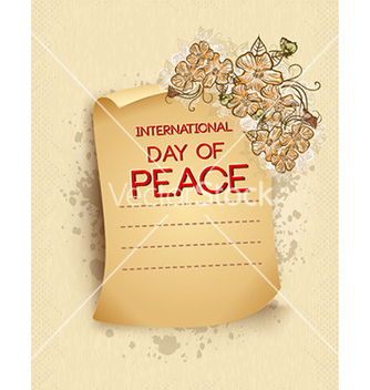 Free international day of peace with torn paper vector - Free vector #227293