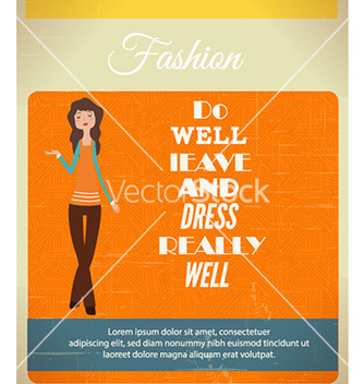 Free with fashion typography and woman vector - vector gratuit #227583