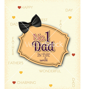 Free fathers day vector - Free vector #227593