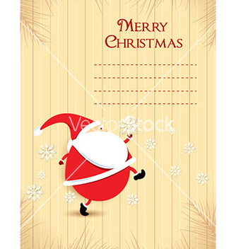 Free christmas with santa vector - vector gratuit #227703