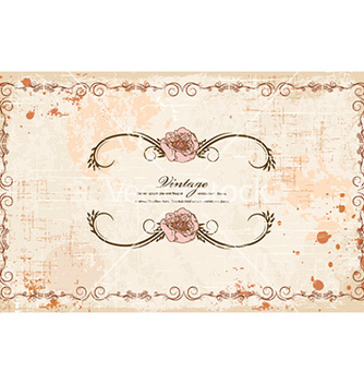 Free vintage frame with floral vector - vector gratuit #227833
