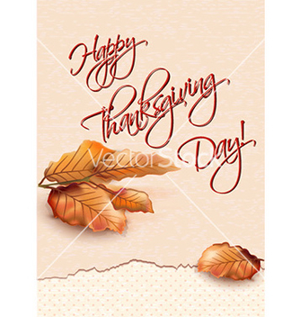 Free happy thanksgiving day with leaves vector - бесплатный vector #227863