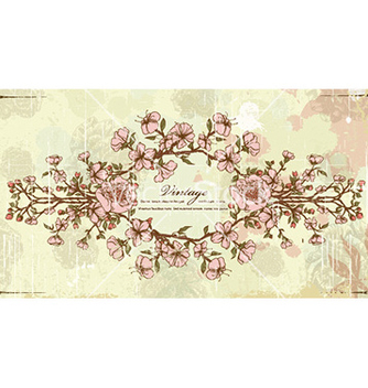 Free vintage frame with floral vector - Kostenloses vector #227913