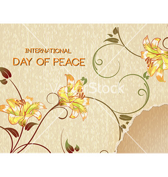 Free international day of peace with torn paper and vector - Free vector #227943