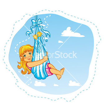 Free cute little girl vector - vector gratuit #228253