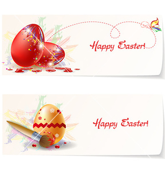 Free easter banners vector - Free vector #228483
